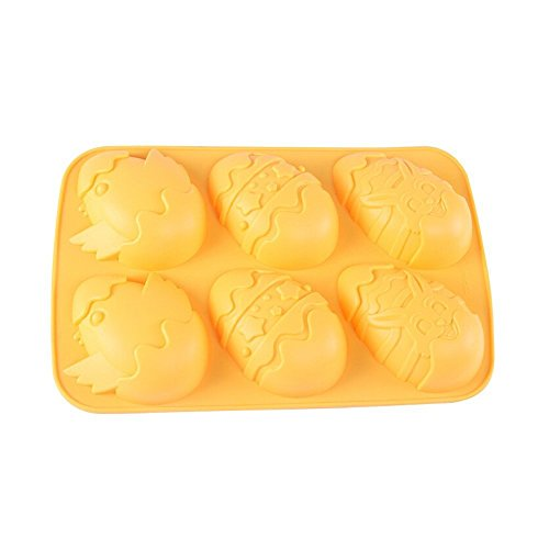 Yunko Easter Egg Bunny Chicks Silicone Cake Baking Mold Cake Pan Muffin Cups Handmade Soap Moulds DIY Tool