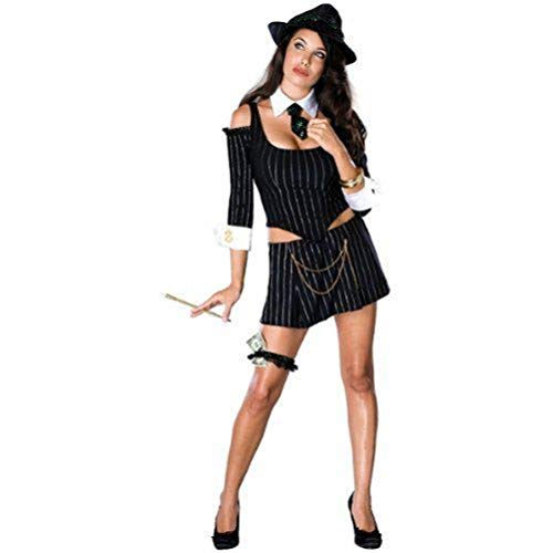 Mafia Costumes For Women (Secret Wishes Women's Mafia Princess Adult Costume, Multicolor,)