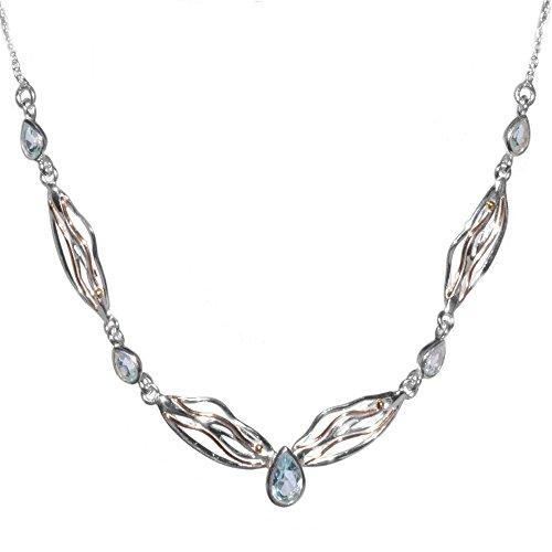 Bijoux en argent sterling topaze: Fluide Collier avec larmes