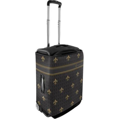 CoverLugg Large Luggage Cover – Fleur-de-lis (Black Fleur-De-Lis), Bags Central