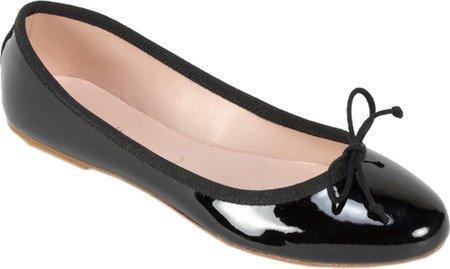 Witte Bergtop Dames Kendall Schoen Zwart Lakleder