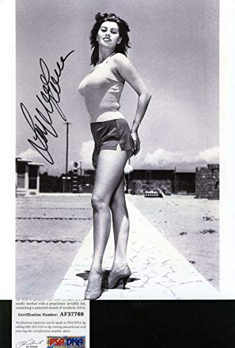 SOPHIA LOREN PSA DNA Coa Hand Signed 8x10 Photo Autograph