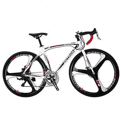 Max4out Road Bike 700c 14 Speed 3 Spoke Commuter Bicycle White