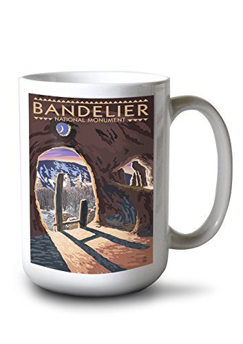 Lantern Press Bandelier National Monument, New Mexico - Twilight View (15oz White Ceramic Mug) ()