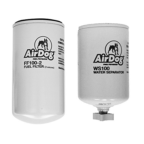 AirDog Water Separator and Fuel Filter Combo Includes The WS100 Water Separator and the FF100-2 Fuel Filter For AirDog Fuel Pumps - See Description for More Details