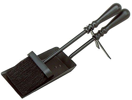 Sakranco black brush and shovel set , long handle with (Black Fireplace Brush)