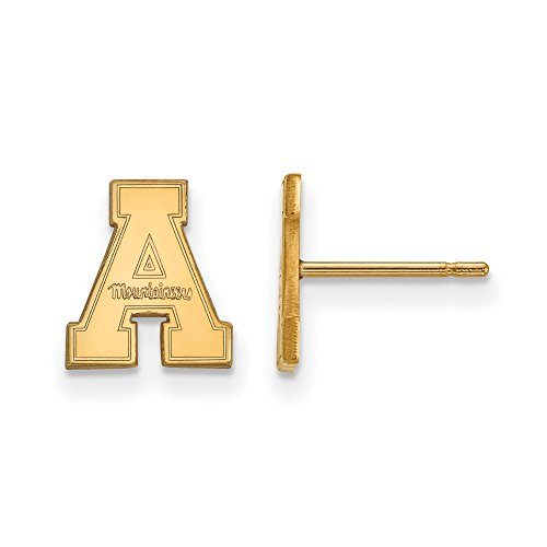 Appalachian State Extra Small (3/8 Inch) Post Earrings (14k Yellow Gold) by LogoArt