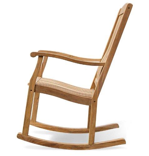Teak Garden Rocking Chair - Genuine Grade-A Teak Outdoor Garden Rocker Chair  - SVLK Compliant With Jati Brand, Quality & Value Amazon.co.uk Garden &  ...