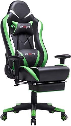 Ficmax Green Massage Gaming Chair High Back