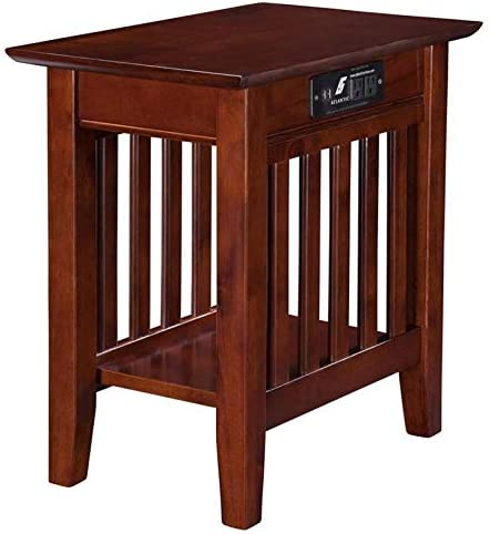 Leo Lacey Charger Chair Side Table in Walnut
