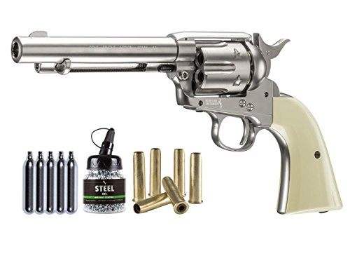 Colt Peacemaker SAA CO2 Revolver Kit, Nickel air pistol by Colt