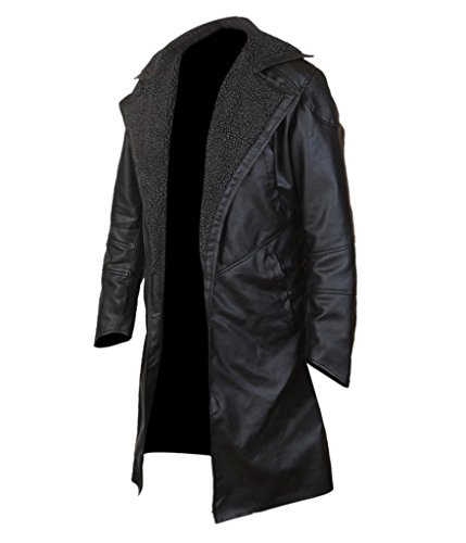 F&H Mens Blade Runner 2049 Faux Fur Lined Open Front Coat: Amazon.es: Ropa y accesorios