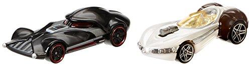 Star Wars Princess Leia Hot (Hot Wheels Star Wars Character Car 2-Pack, Darth Vader vs. Princess Leia)