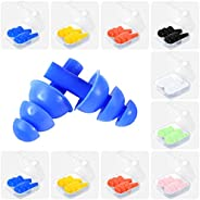Jupswan Ear Plugs for Swimming Silicone Waterproof Swim Surf Dive Water Earplugs for Adults K-I-D-S