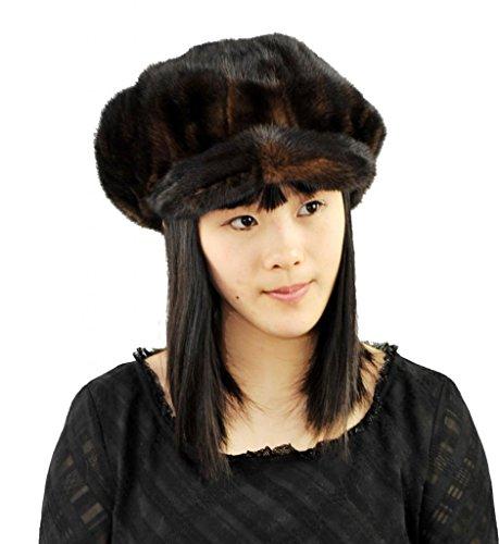 Hot Selling Genuine Mink Fur Lady Cap by CX FUR