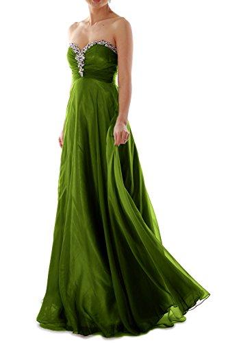Strapless Women Evening Formal Crystal Prom Chiffon Gown Ball Dress Long Green MACloth 64qR5a0q