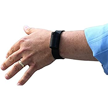 Little Viper Pepper Spray Bracelet, Adjustable Silicone Band- Black, Lightweight, Discreet and Easy Access For Quick Response to Attack, Contains 3 - 6 Bursts of 10% OC, Cannot Ship to MA or NY