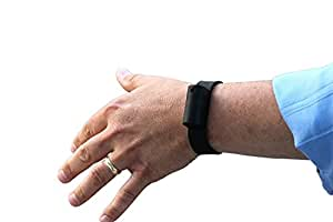 Pepper Spray Bracelet with Adjustable Silicone Band, Black | Contains 3 - 6 Bursts of 10% Oleoresin Capsicum (OC) | Lightweight & Discreet for Men or Women from Little Viper | Cannot Ship to MA or NY