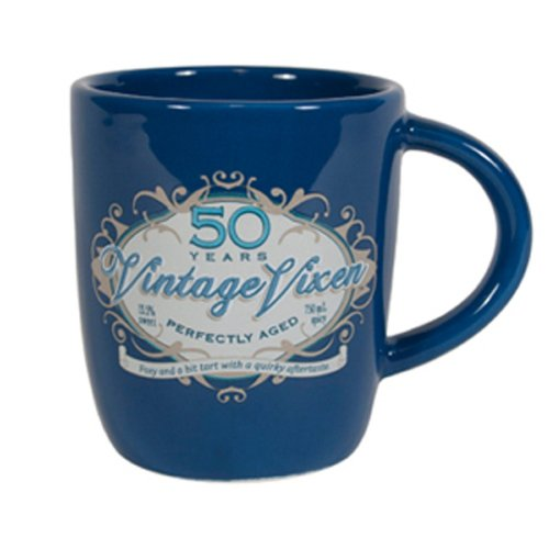 Laid Back CF12045 50th Birthday Vintage Vixen Ceramic Mug, 12-Ounce