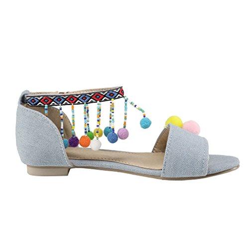 Chaussures Bleu Clair Pour L'été Pour Les Femmes rpqtUU9N1