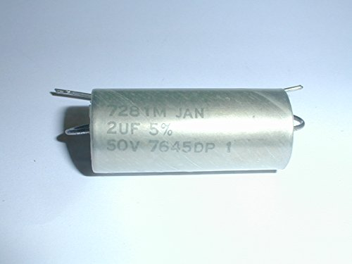 M83421/01-7281M 2uf 50V 5% Hermetically-Sealed Axial-Lead Metalized-Polycarbonate Capacitors to Military Specification MIL-C 83421/01