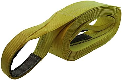 4 X 20 Ft Single Ply Recovery Strap with Wear Pad in Loops Cargo Equipment Corp