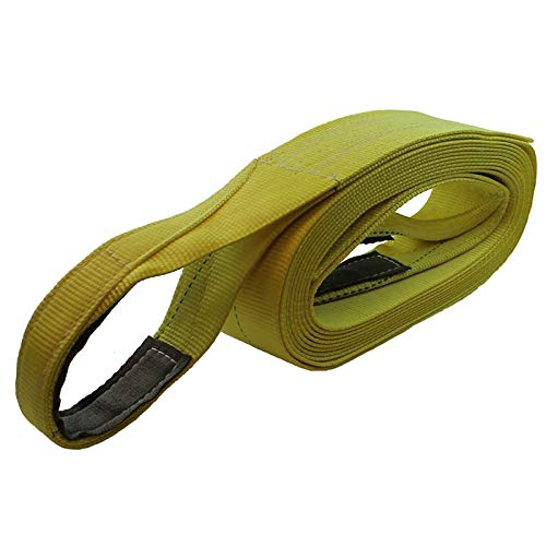 Cargo Equipment Corp. 4'' X 50 Ft Single Ply Recovery Strap with Wear Pad In Loops by Cargo Equipment Corp.
