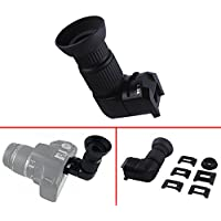 Astromania 1X/2.5X Magnification Right Angle Viewfinder with 6 Mounting Adapters for DSLR Camera Such as Canon, Nikon, Pentax, Minolta, Dynax, Samsung, Olympus