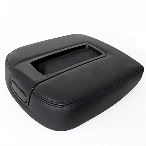 Comfortable Microfiber Leather Console Lid Armrest Cover Fit for 07-13 Chevy Tahoe Suburban Yukon Sierra (Suburban Console)