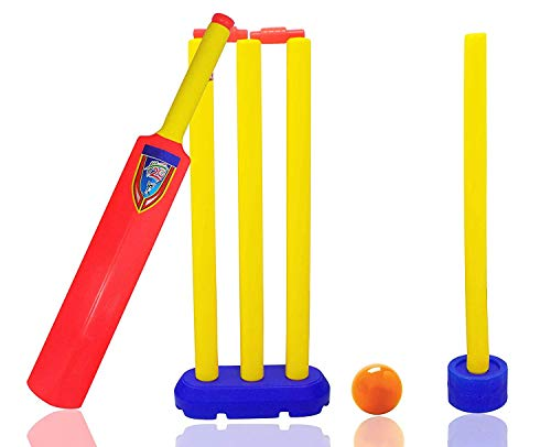 Iyaan Cricket Playing Set for Kids 1Bat|3 Stumps|1 Practice Stumps|Stumps Stand|with Ball Combo Price & Reviews