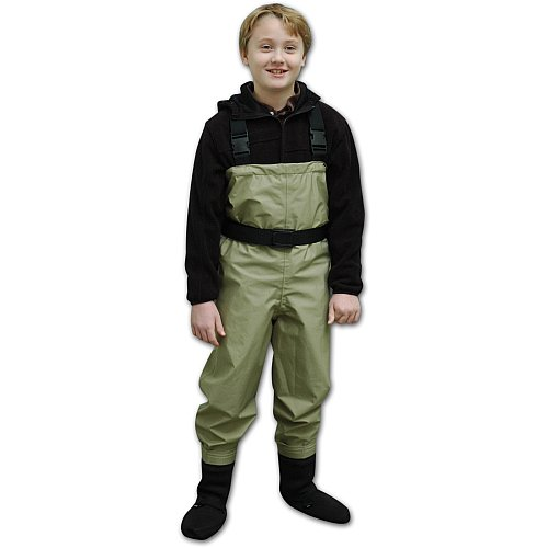 Caddis Youth Promo Breathable Stocking Foot Waders, Taupe...