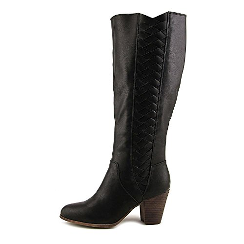 Fergalicious Cally Women Round Toe Synthetic Gray Knee High Boot Black 4UdiQTjCMl