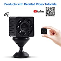 Wimaker HD 4K WiFi Mini Spy Hidden Camera Mini 4K WiFi Spy IP Camera with Irrespecitive Night Vision Led for Home Wireless Security Surveillance Camera for iPhone/Android View