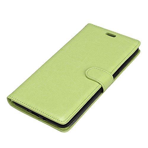 JIALUN-Personality teléfono shell Funda de cuero magnética de la bolsa de la cartera de la PU del diseño magnético de la hebilla, [cubierta horizontal de la caja del soporte del tirón de 3 ranuras de  Green