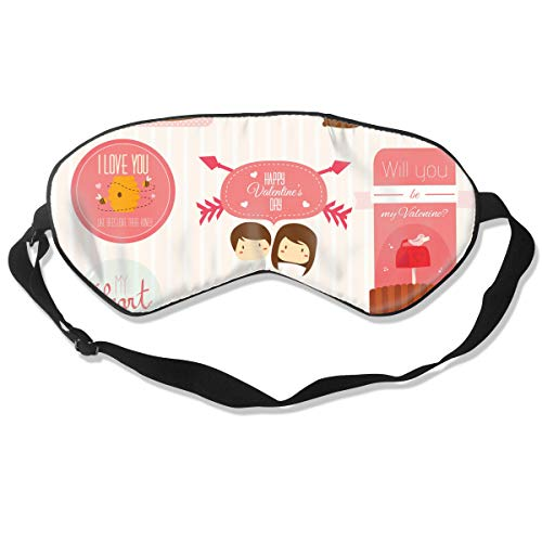 Eye Mask Valentine Set Personalized Eyeshade Sleep Mask Soft for Sleeping Travel for Children]()