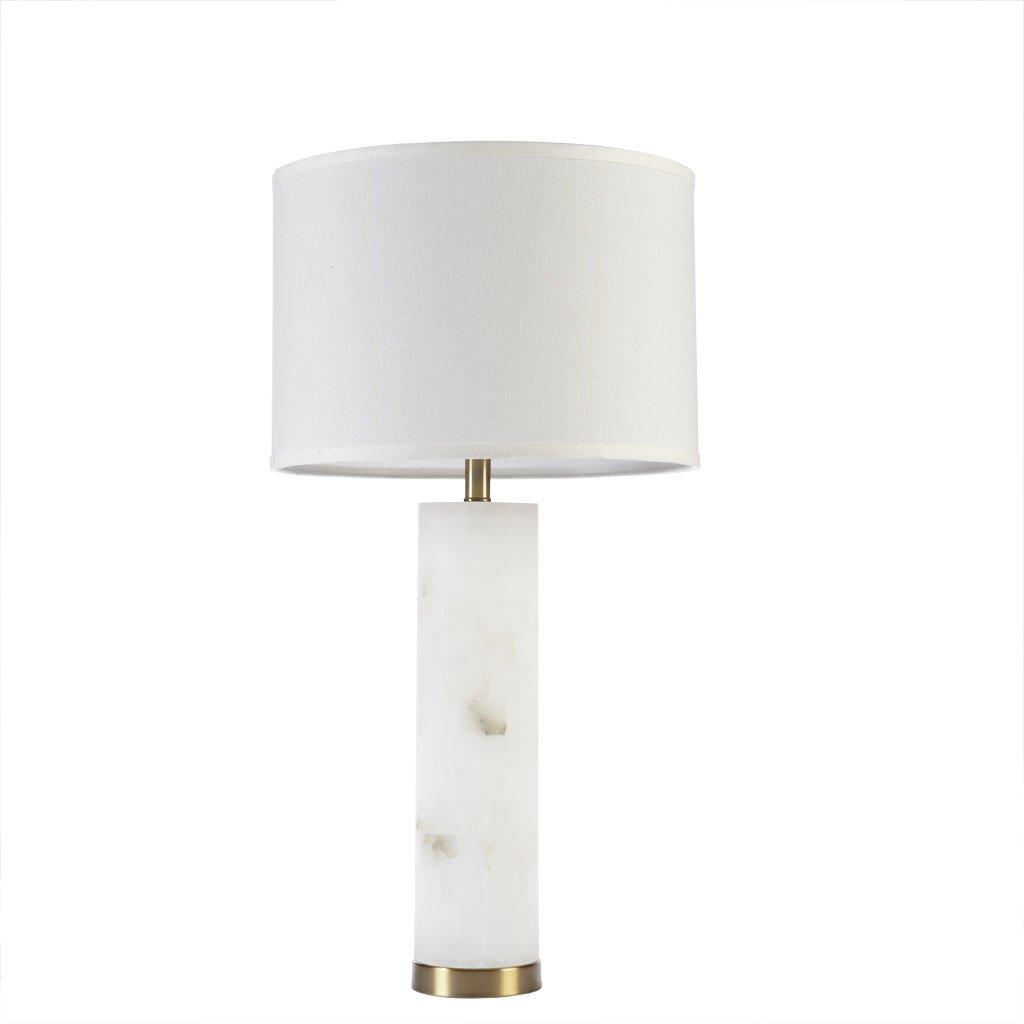 Amazon.com: Praga lámpara de mesa, Blanco: Home & Kitchen
