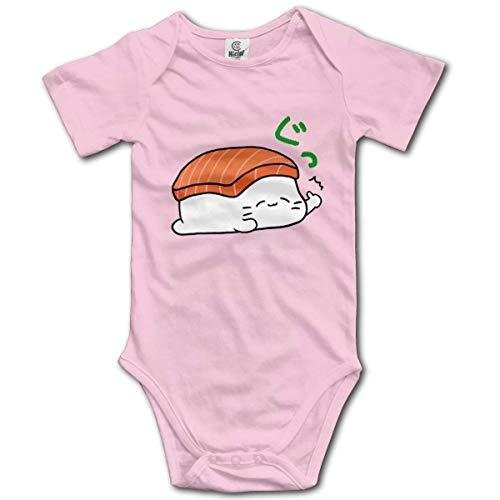 MAON Sleeping Sushi Baby's Onesie Unisex Short Sleeve Comfortable Bodysuit Outfits -