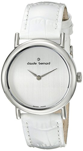 Claude Bernard Women's 21216 3P A Dress Code Analog Display Swiss Quartz White Watch