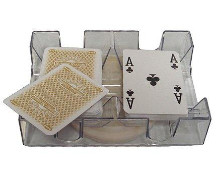 2 Deck Revolving Rotating Canasta Playing Card Tray - Game Card Holder