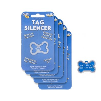 Id Tag Large Bone (Quick-Tags Dog ID Tag Silencers, Large Bone Shaped, 5 Piece)