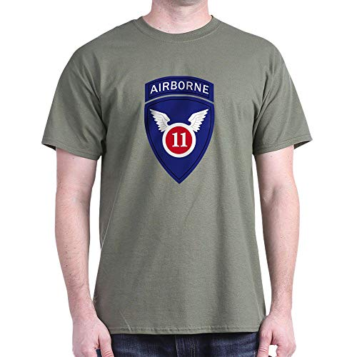 CafePress 11Th Airborne Division T Shirt 100% Cotton T-Shirt Military Green ()