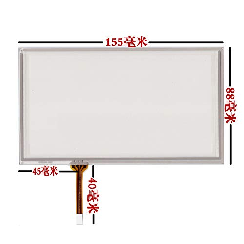 Xligo 6.2 inch 155mm88mm 4 Wire Resistive Touch Screen Digitizer for HSD062IDW1 A00 TM062RDH03 Panel Glass