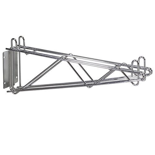 Akro-Mils AW24DWBKT 24-Inch NSF Approved Chrome Wire Shelf Double Wall Bracket, - Cantilevered Shelf