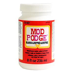 Mod Podge Waterbase Sealer, Glue and Finish (8-Ounce), CS11201 Gloss