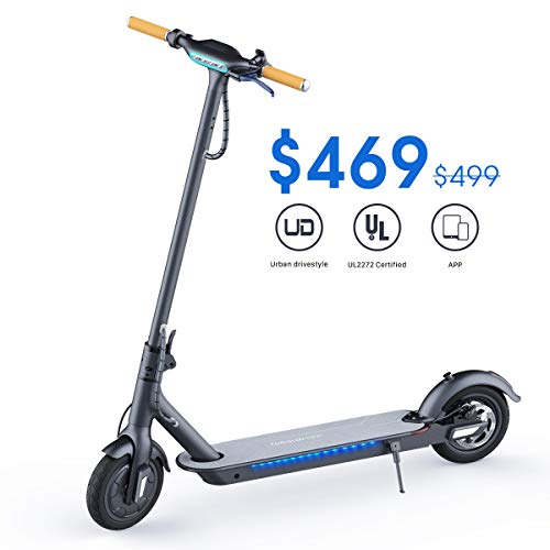 TOMOLOO Electric Scooter for Adults, Self Balancing Scooter Hoverboard with Color Changeable LED Lighting (L1-Black)