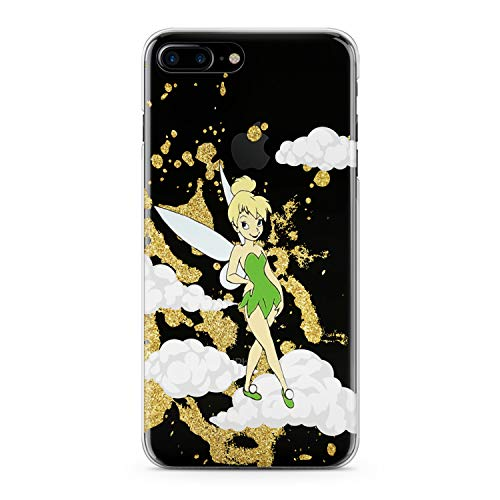 (Lex Altern iPhone Apple TPU Case Xs Max Xr 10 X 8 Plus 7 6s 6 SE 5s 5 Tinkerbell Clear Clouds Disney Cute Cover Print Protective Women Silicone Transparent)