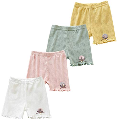 - 4Pcs Little Girls Toddler Kids Lace Trim Slim Elastic Safety Boyshort Underwear Boxers Briefs Panties (6-8 Years, 4 Pack/Mix-2)