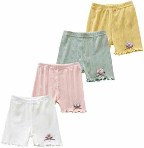 69dad72eb 4Pcs Little Girls Toddler Kids Lace Trim Slim Elastic Safety Boyshort  Underwear Boxers Briefs Panties