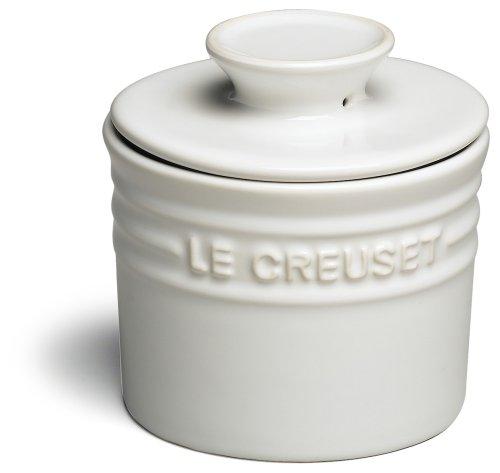 Le Creuset Stoneware Butter Crock, 6-Ounce, White (Airtight Crock)