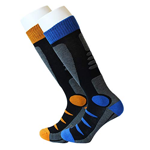 - Feetalk Ski Snowboard Socks Thermal Merino Wool -Outdoor Activity Skiing Men's and Women's Socks